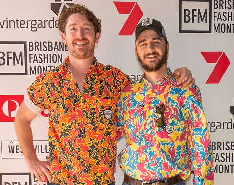 Dan and Ed from TradeMutt at Brisbane Fashion Month