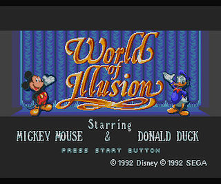 World of Illusion Starring Mickey Mouse and Donald Duck sega mega drive japan