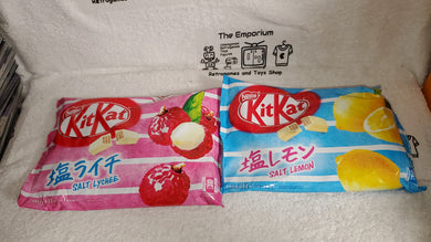 kitkat SALT LYCHEE + SALT LEMON (2 packages) - kitkat  kit kat japanese  snacks sweet