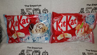 Kitkat Strawberry  Cake + cookie & cream flavor (2 packages) - kitkat  kit kat japanese  snacks sweet