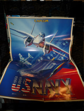 US NAVY / carrier airwing poster arcade original