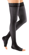 mediven sheer & soft, 20-30 mmHg, Thigh High with Lace Top-Band, Open Toe