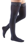 mediven comfort, 15-20 mmHg, Thigh High with Lace Top-Band, Closed Toe