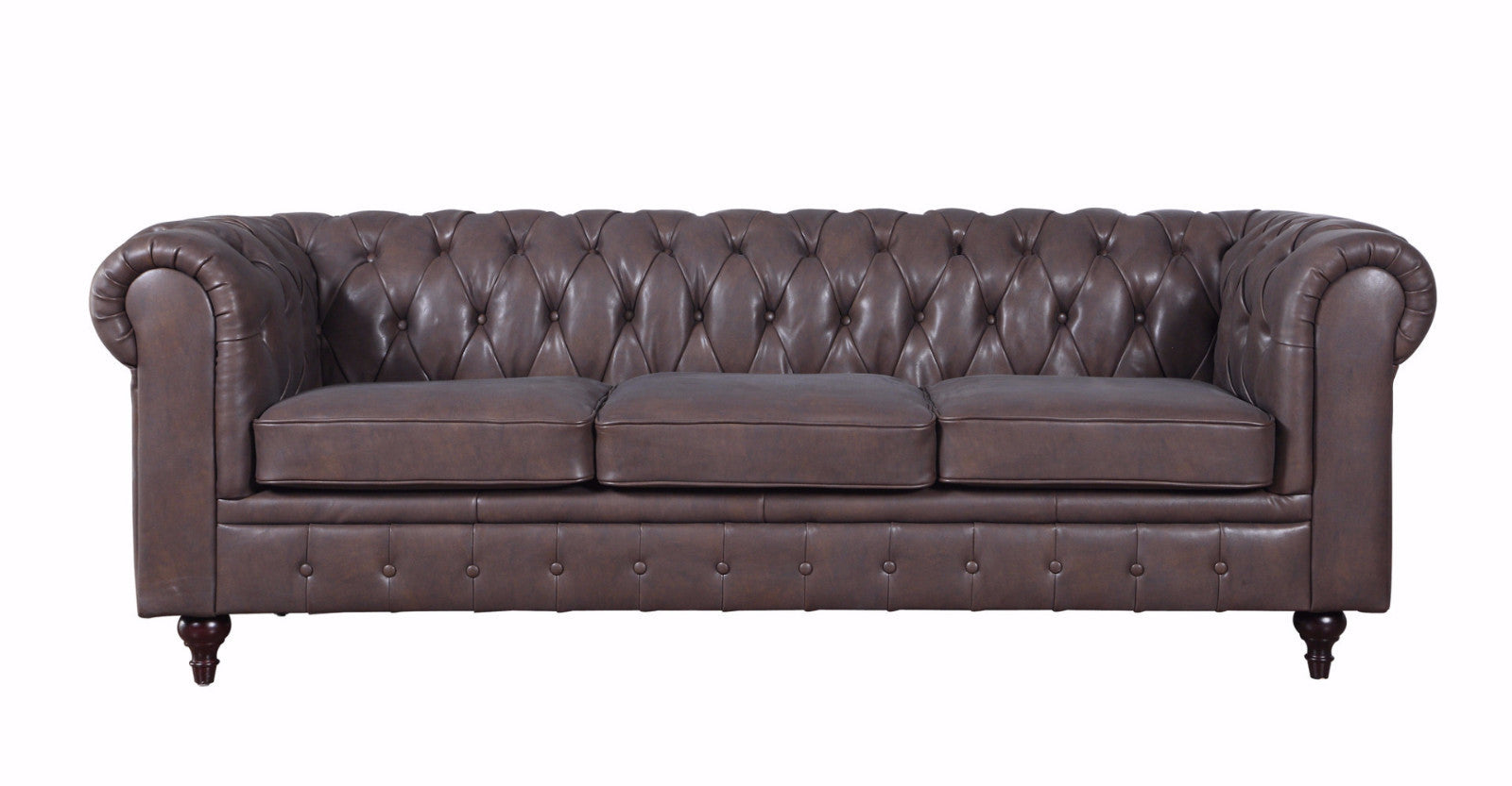 Charleston Classic Leather Chesterfield Sofa