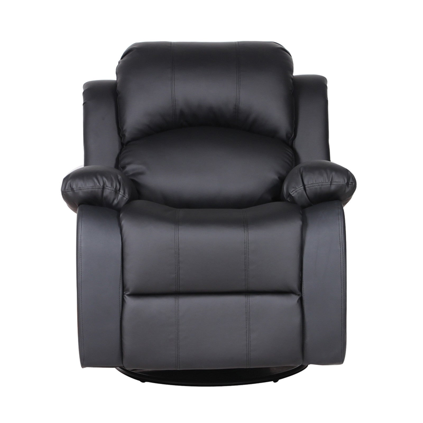 John Bonded Leather Recliner Rocker Swivel Chair