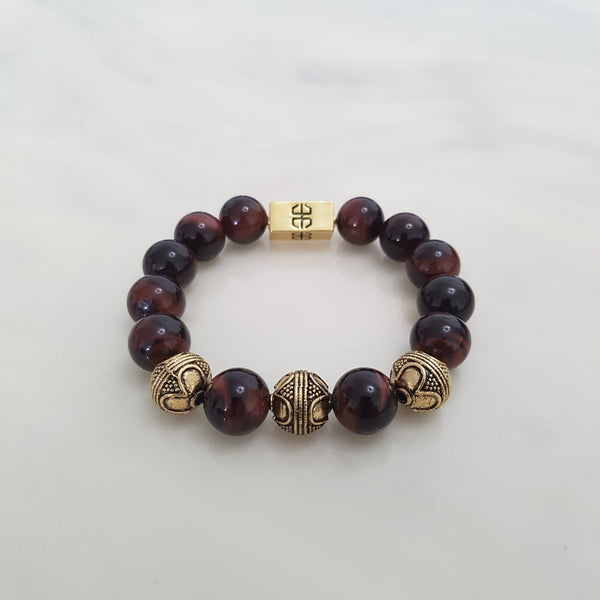 Tibetan Red Tiger's Eye, Bracelets - Embrace SG