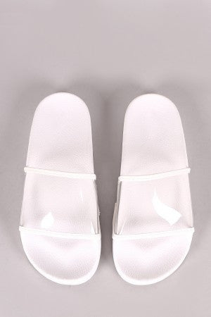 Transparent Lucite Band Slide Sandal - Eunique Essentials