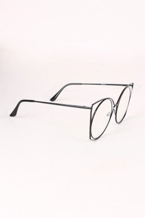 Oversized Clear Lens Open Wire Framed Glasses - Eunique Essentials
