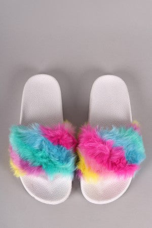 Soft Faux Fur Slide Sandal - Eunique Essentials