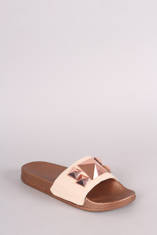 Shoe Republic LA Studded Slide Sandal - Eunique Essentials