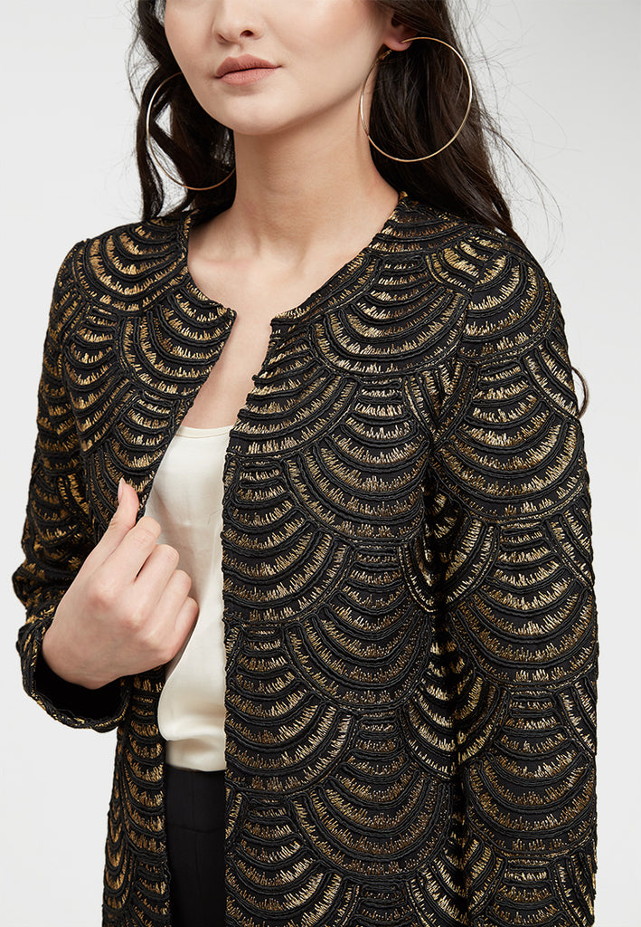Gold silk thread jacket
