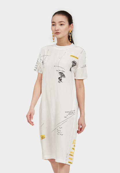 Shear Arrow Short Sleeve Dress