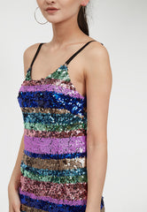 Multi Sequin Dress