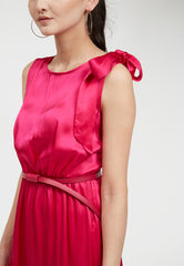 Pink Satin Silk Dress