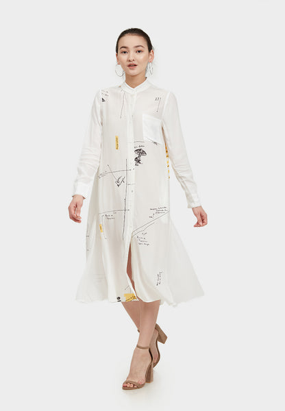 Shear Arrow Shirt Dress