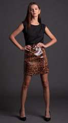 Jaguar Vegan Leather Skirt *PRE-ORDER*