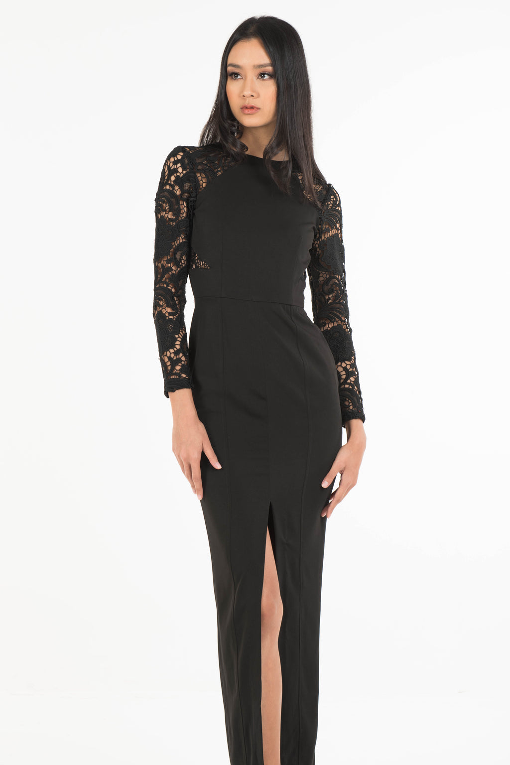 Macy Guipure Lace Dress