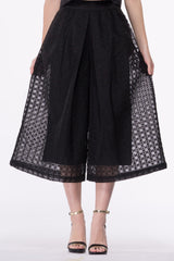 Embroidered Organza Culottes