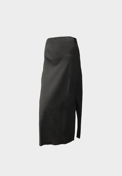 Ally Black Slit Skirt