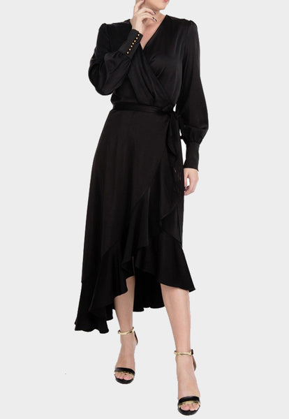 Belle Long Wrap Dress