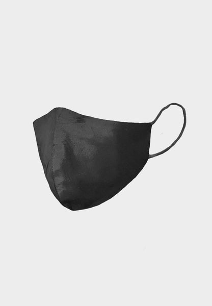 Black Raw Silk Mask