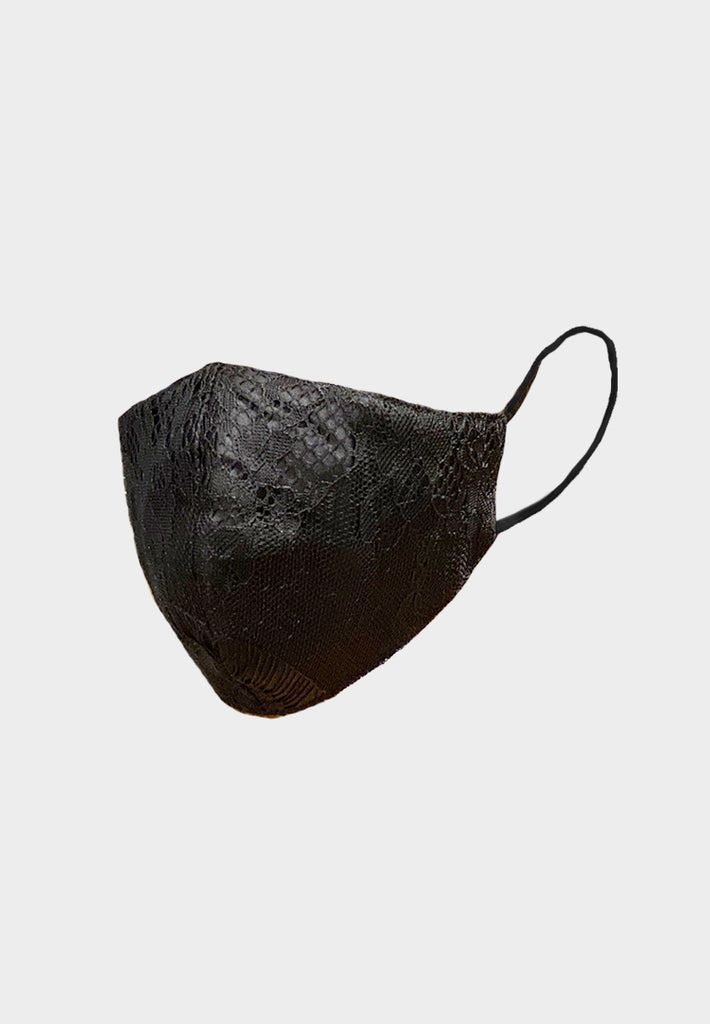 Chantilly Lace Black Mask
