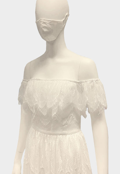 Monte Carlo Chantilly White Dress