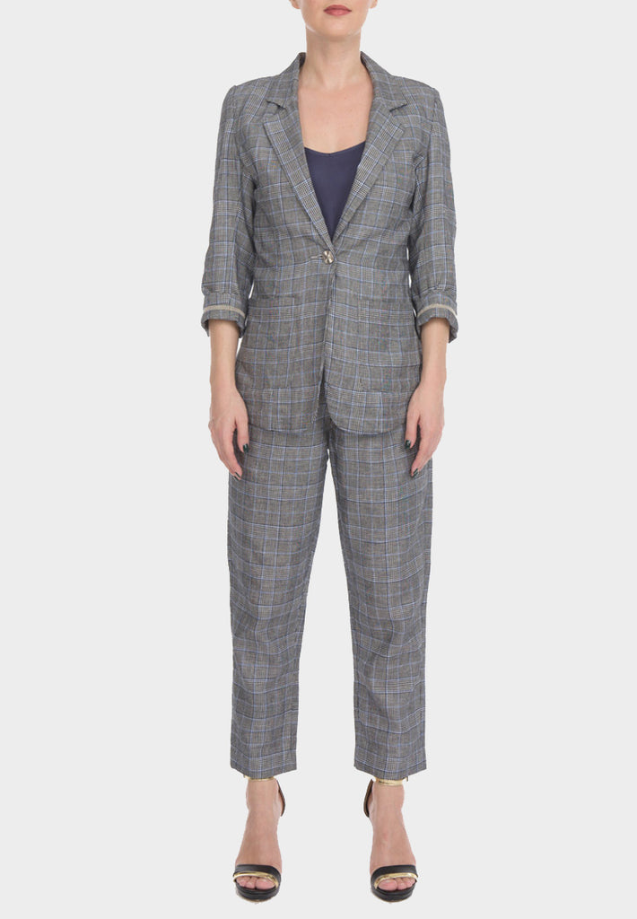 Checkered Linen Jacket Prince of Wales