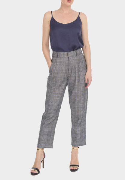 Checkered Linen Pants Prince of Wales