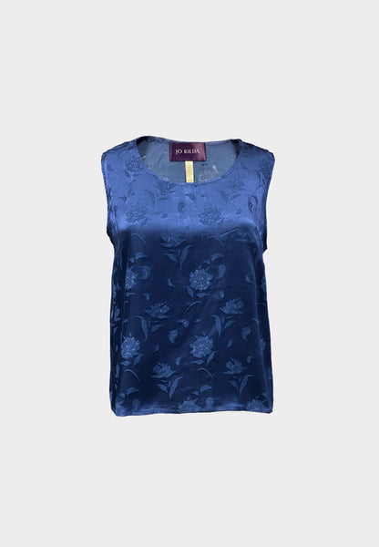 Ella Embossed Top in Blue