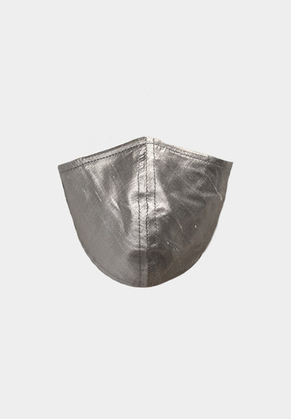 Unisex Grey Raw Silk Mask
