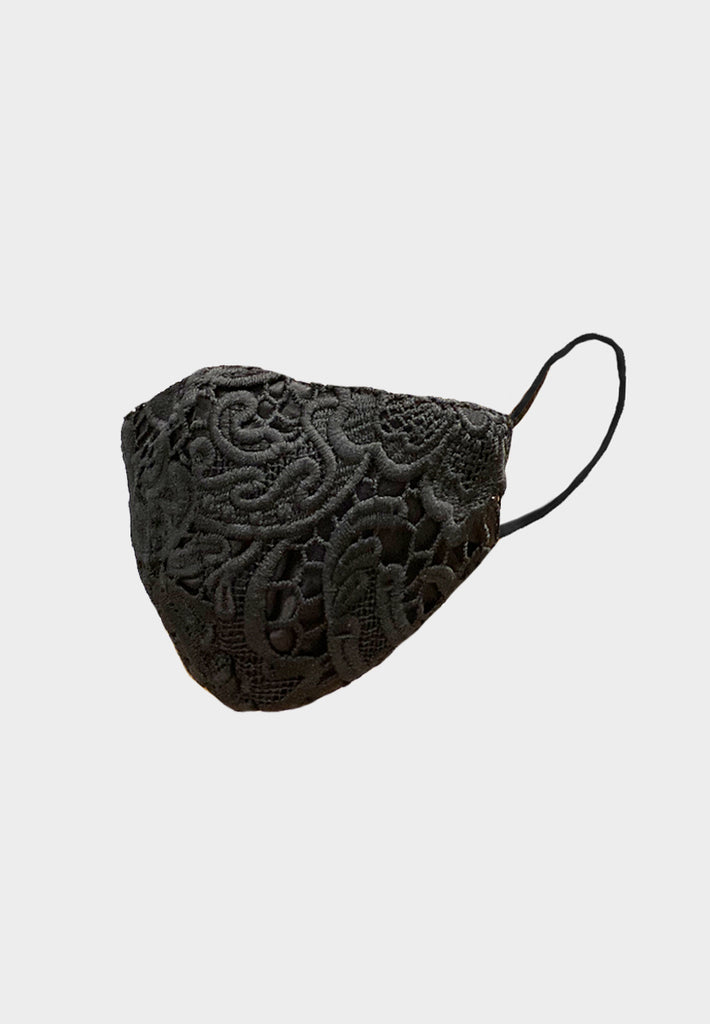 Guipure Lace Black Mask