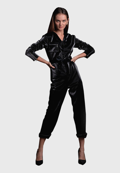 JAGUAR LEATHER JUMPSUIT