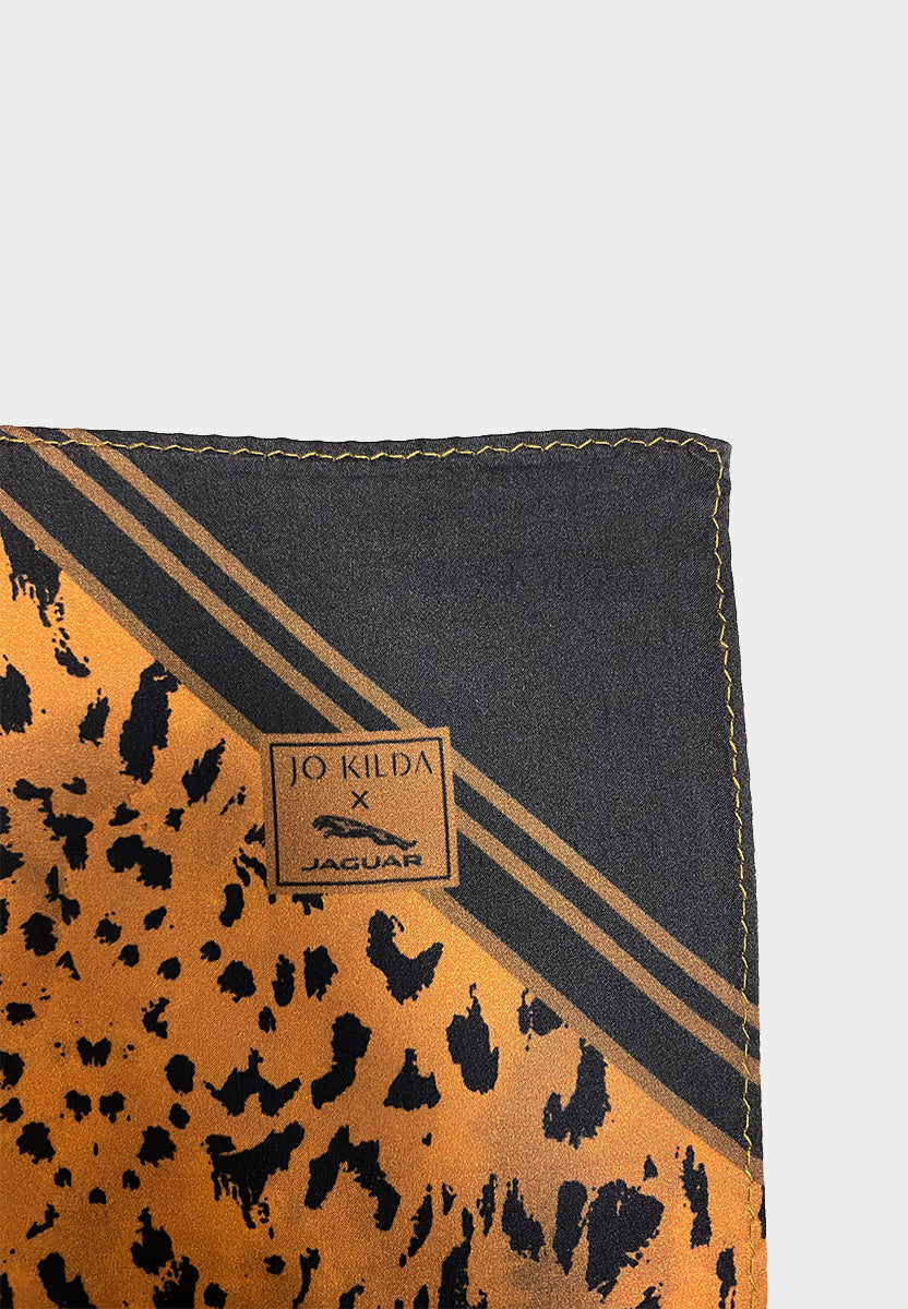 Jo Kilda x Jaguar Satin Silk Pocket Square
