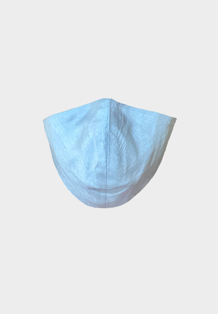 Light Blue Raw Silk Mask