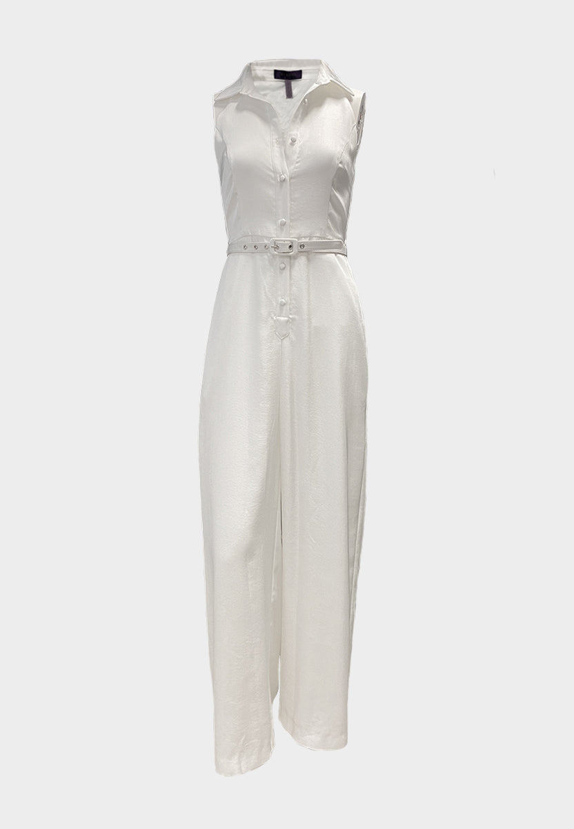 Queen Eva White Jumpsuit