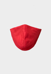 Red Raw Silk Mask