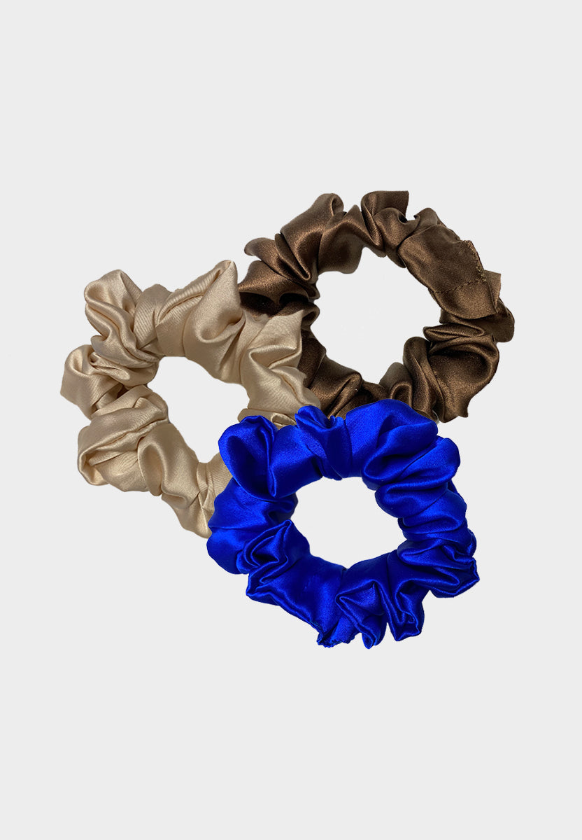 Satin Silk Scrunchies Bundle
