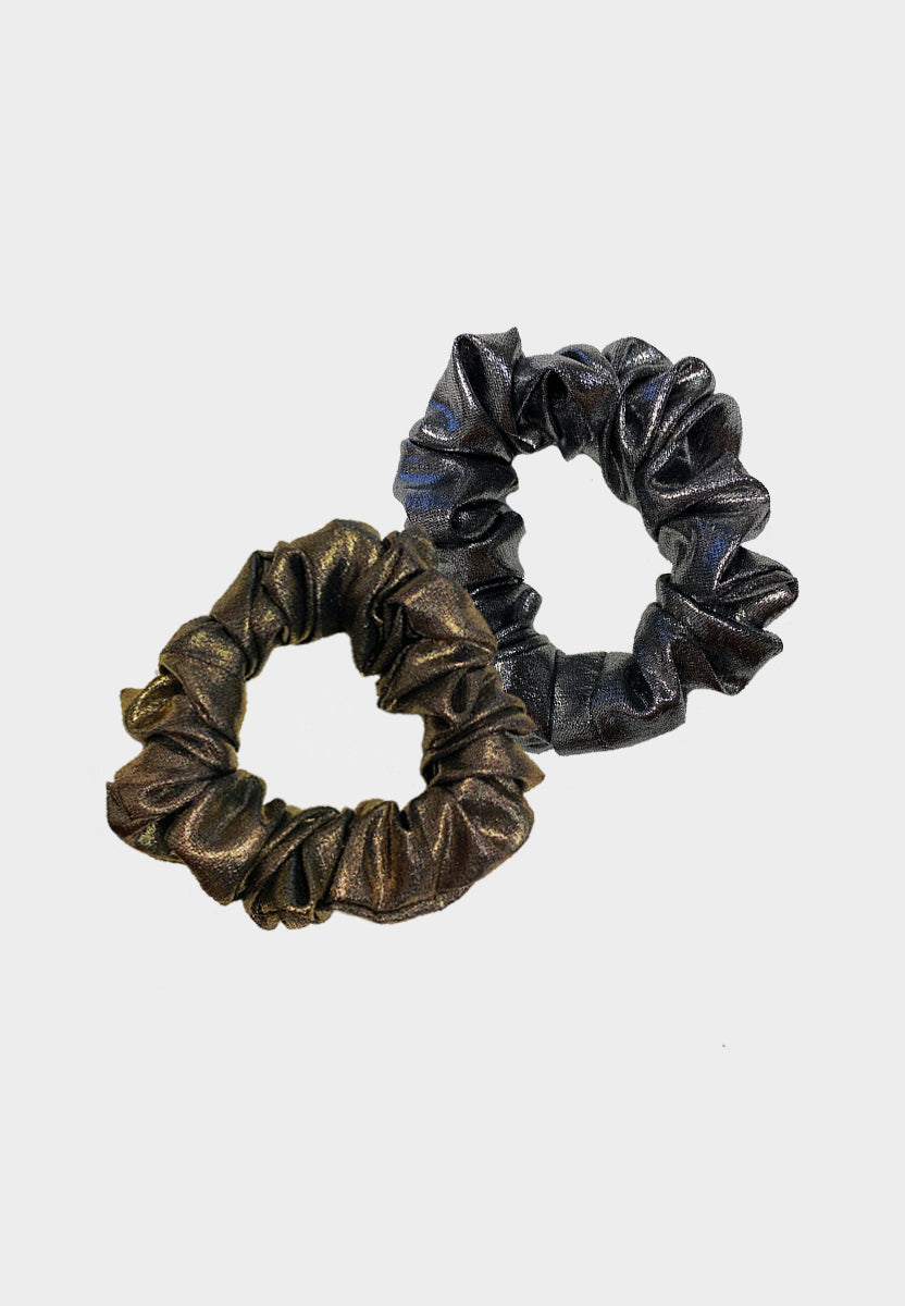 Metallic Chiffon Scrunchies Bundle