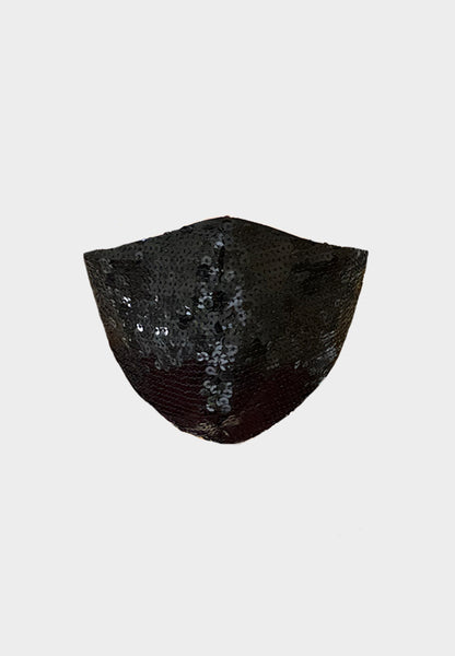 Limited Edition Black Sequin Silk Mask