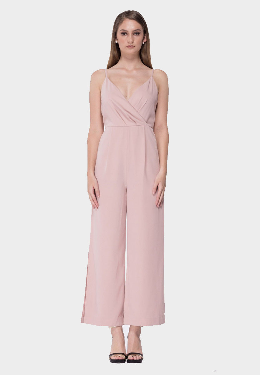 Side Slit Flare Jumpsuit