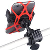 Bicycle Motorcycle Handlebar Mount Holder Phone Holder With Silicone Support Band For Iphone Samsung XIAOMI GPS Universal