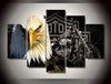 Eagles Motorcycle HD Canvas Prints 5 Pieces Painting For Living Room Frame