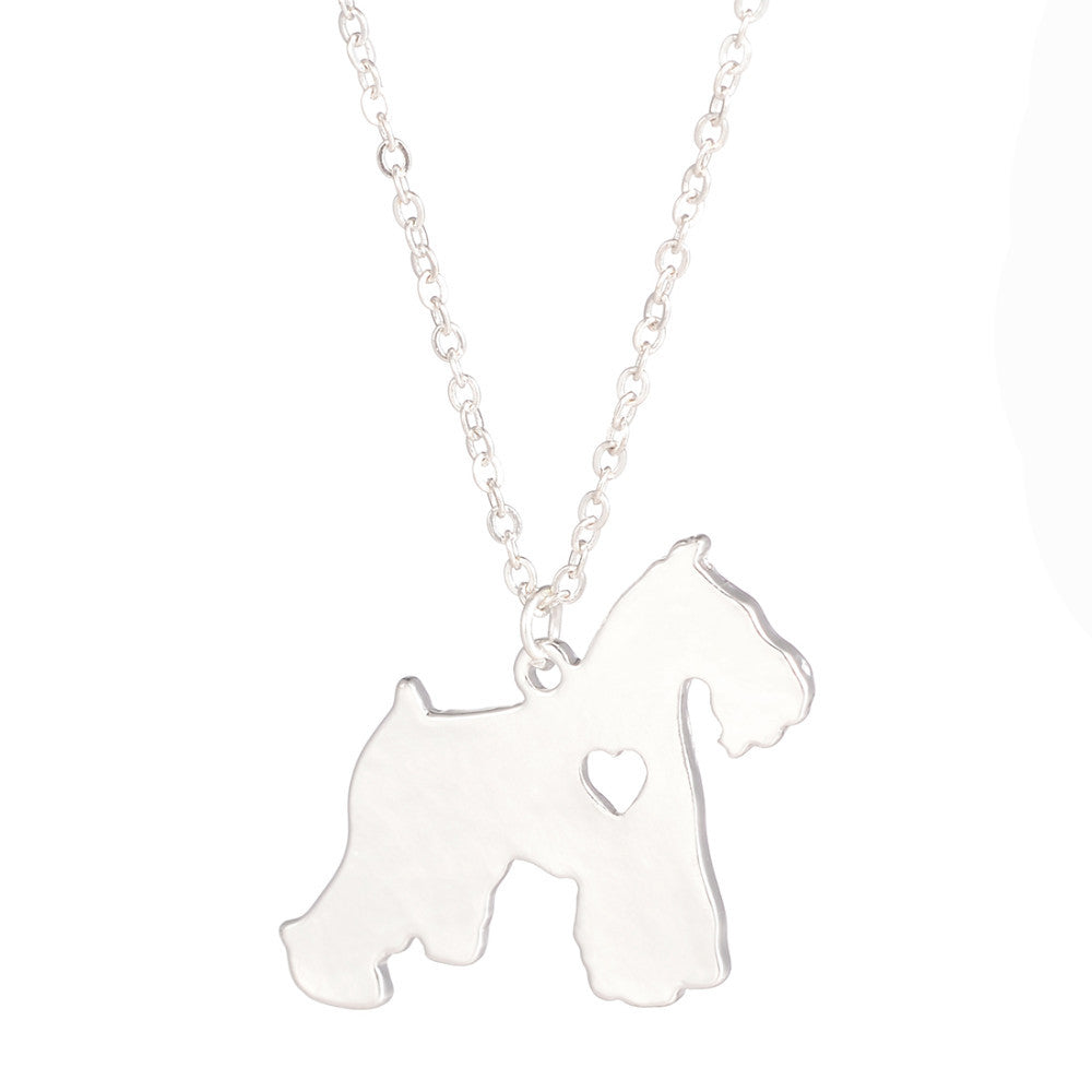 Gold silver 1pc schnauzer necklace dog pendant pet jewelry charm gold silver 1pc schnauzer necklace dog pendant pet jewelry charm aloadofball Image collections