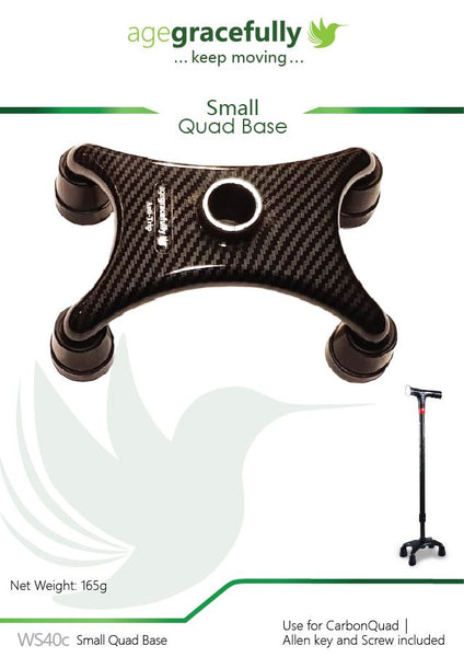 Walking Stick Small Quad Base  - for CarbonQuad