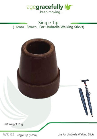 Walking Stick Tip - Single Tip 16mm