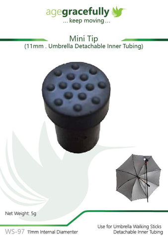 Walking Stick Tip - Mini Tip For Inner Umbrella Walking Stick
