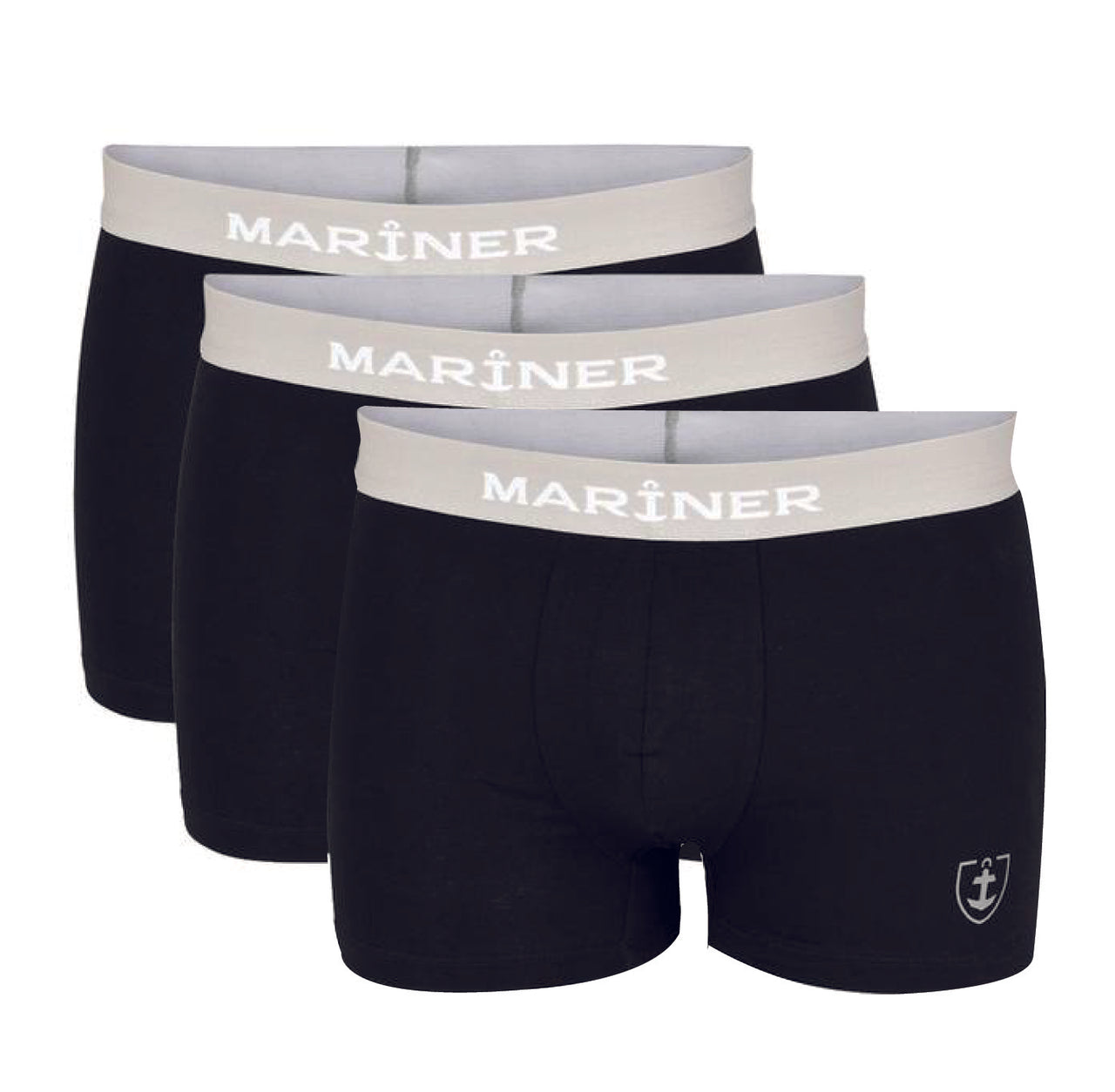 Lot de 3 Shortys Coton Stretch BIO - NOIR