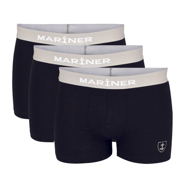 Pack de 3 Shortys Coton Stretch BIO - NOIR
