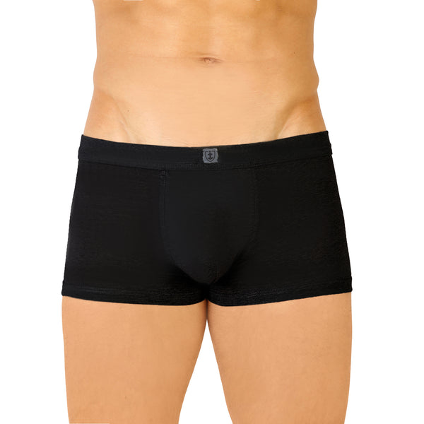 Zwarte Katoenen Stretch Gebreide Band Shorts